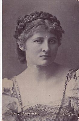Old Postcard Glamour Actress Mary Anderson 1900S