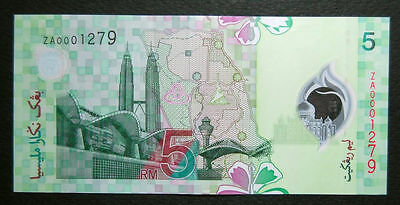 Malaysia 2004 5 Ringgit Polymer 11Th Series P47* Za Replacement Very Rare Unc