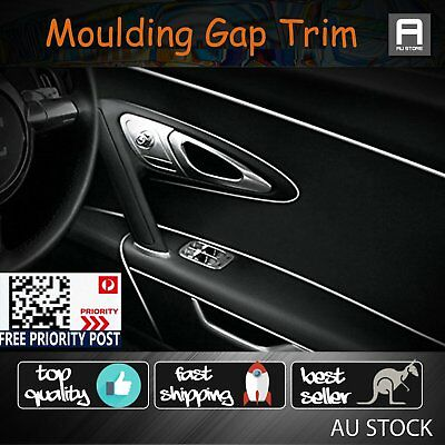 Sliver Car UTE SUV Edge Gap Trim Line Strip Garnish Point Molding Accessory 8M