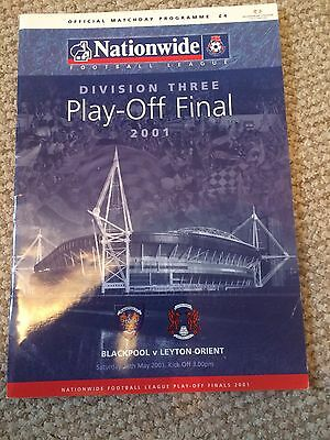 BLACKPOOL v LEYTON ORIENT   DIVISION 3 PLAY OFF FINAL 2001