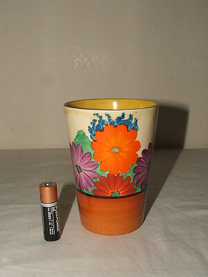 Clarice Cliff Art Deco Bizarre Gay Day Tall Beaker Rare & Truly Stunning