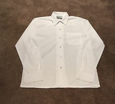 Beare & Ley White Girls Button School Shirt - Size 16 - Excellent Condition