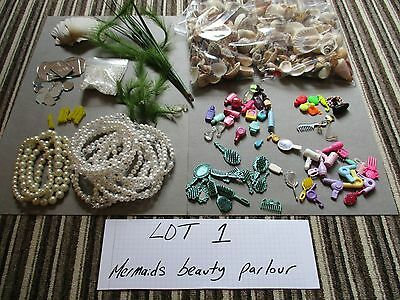 Mermaid theme dolls house furniture/accessories