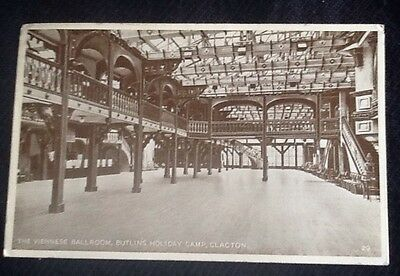 Vintage Postcard of The Viennese Ballroom Butlins Holiday Camp Clacton