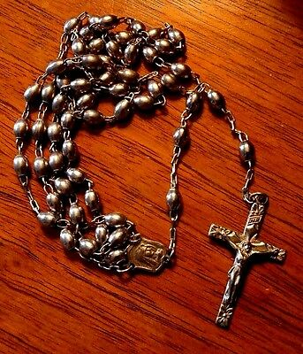 Vintage Rosary Sterling Silver
