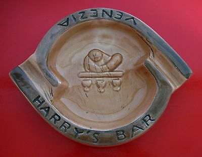 HARRY'S BAR VENEZIA Posacenere Ceramica Tosin 1950 VINTAGE ASHTRAY Portacenere