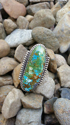 Beautiful Handmade Hidden Valley Turquoise Navajo Ring