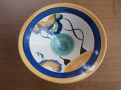 A Clarice Cliff Viscaria Pattern Style Bowl 23cm x 8cm