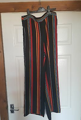 river island high waisted  wide leg trousers size 10