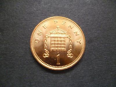 1999 Brilliant Uncirculated One Pence Piece.1999 Uncirculated 1P Coin.