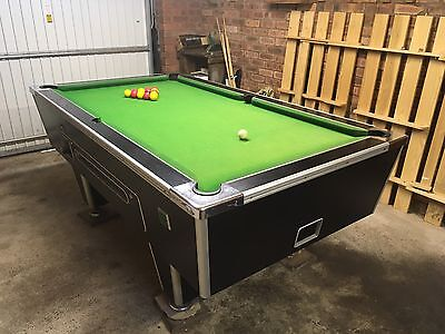 7ft X 4ft Slate Bed Pool Table. (Free Play Or Coin Operated)