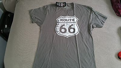 Eaglerider Route 66 T-Shit Size M Grey NWT