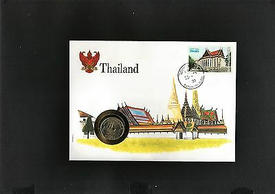Thailand Grand Palace Unc coin cover