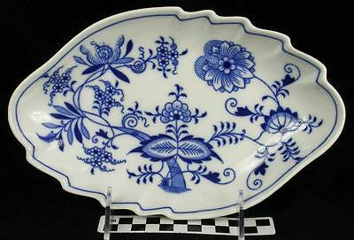 Vintage Zwiebelmuster Czech Blue Onion Danube Shell Dish Serving Relish Bowl (HH