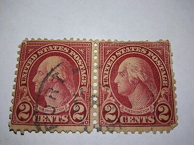Rare! 2 Washington Red  2 Cent Stamps
