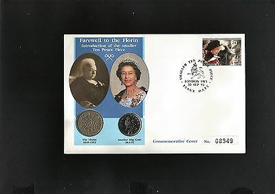 1992 Farewell to the Florin Commemorative Coin Cover Ltd Ed