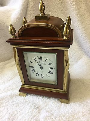 Bracket Clock With Key Barraud & Lunds Vendor 19th Century