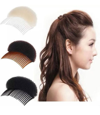 Beehive Shaper Hair Styler Bumpits Bump Foam On Clear Comb New Uk Stock