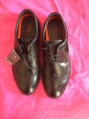 M&S Gents Black Brogue Leather Shoes size 11
