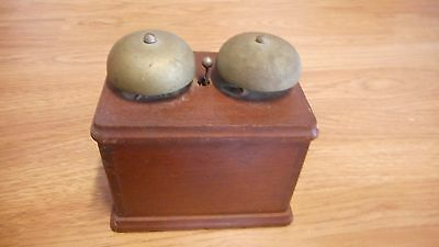 Antique Dual Bell Ringer in Dovetailed Box