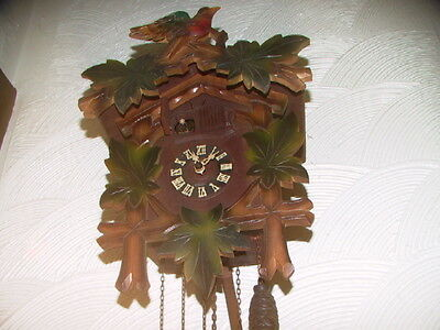 Black Forest 3 train cuckoo clock with music