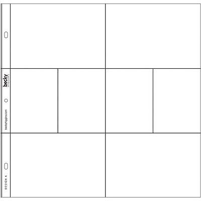 """Becky Higgins Project Life 12x12"""" Photo Pocket Pages - DESIGN A - Pk of 12"""