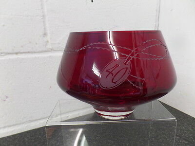 Dartington Crystal Anniversary Deep Bowl - Ruby 40