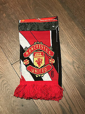 Manchester United FC Adults Woolen Scarf - Official Item - EPL - SOCCER - NEW