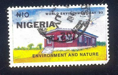 Nigeria 10N Used Stamps A25455 House Environment And Nature