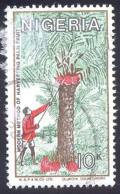 Nigeria 10K Used Stamps A25745 Harvesting Palm Fruit