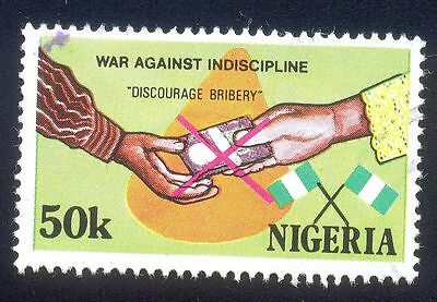 Nigeria 50K Used Stamps A25808 Discourage Bribery Flag