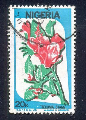 Nigeria 20K Used Stamps A25529 Tecoma Stans Plant