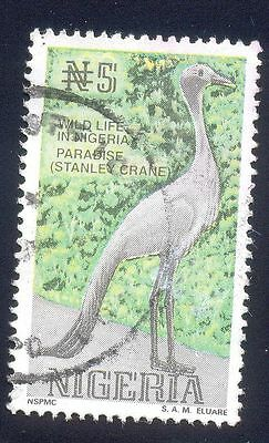 Nigeria 5N Used Stamps A25648 Paradise Stanley Crane Bird