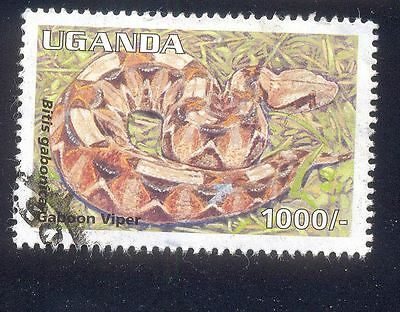 Uganda 1000C Used Stamps A25414 Gaboon Viper Snake