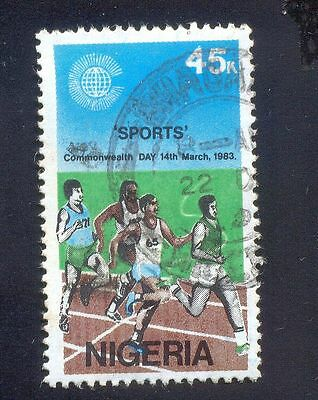 Nigeria 45K Used Stamps A25056 Sports Marathon Race Commonwealth Games