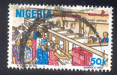 Nigeria 50K Used Stamps A25095 Modern Post Office