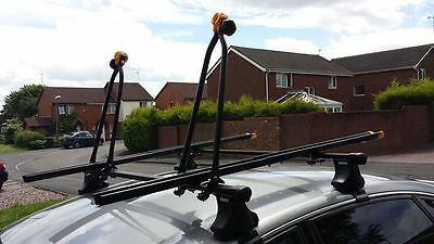 Thule roof bars and 2 Roof Mount Cycle Carrier