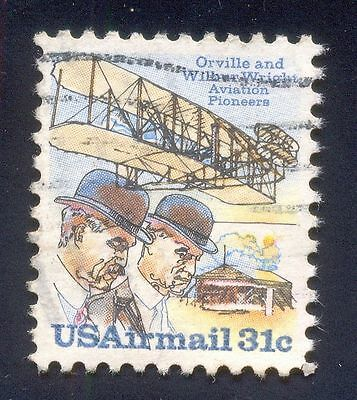 Usa 31C Used Stamps A26613 Orville Wilber Aviation Pioneer