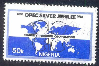 Nigeria 50K Used Stamps A26977 Opec Silver Jubilee
