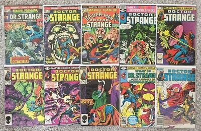 """Vintage """"Doctor Strange"""" Marvel Comic Book Lot Of 10 With Key Issues"""