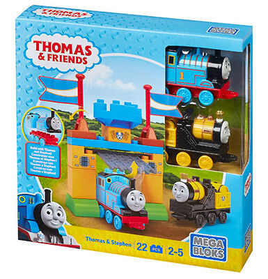 Mega Bloks Thomas & Friends Build With Thomas & Stephen Junior Builders Cnj09