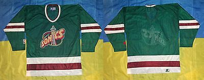 ● Rare Vintage Seattle Supersonics Nba Hockey Jersey Starter Size Men Adult M ●
