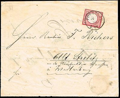 GERMANY 1873 turned cover internal