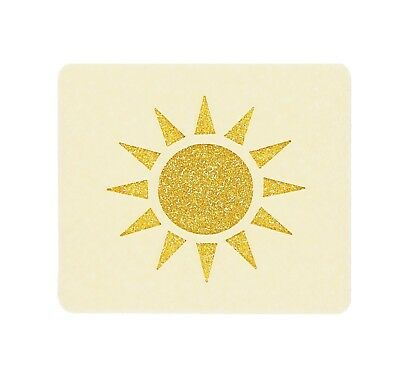 Sunshine Face Painting Stencil 7cm x 6cm 190micron Washable Reusable Mylar
