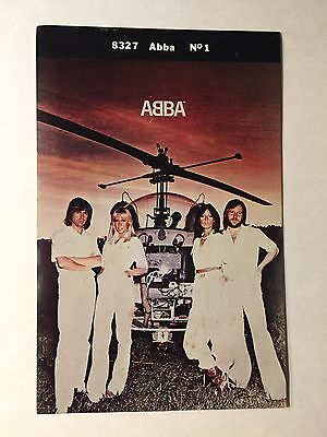 Vintage 1970s Abba Sticker And Abba On Cover Who Magazine