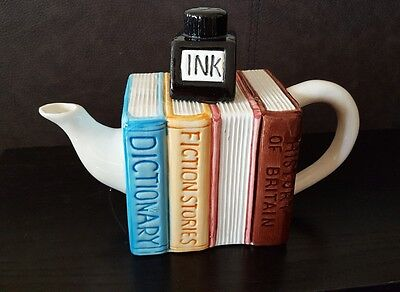 Paul Cardew style - Books & Ink Well Collectable Teapot. VGC