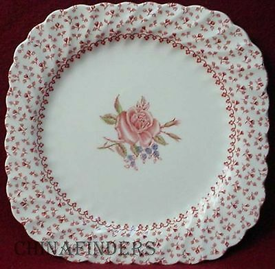 JOHNSON BROTHERS china ROSE BOUQUET pattern Square Salad Dessert Plate - 7-1/2""