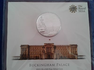 £100 POUNDS  BUCKINGHAM PALACE 2015 UK  Silver Coin   LAST ONE