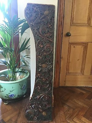 Decorative wooden panel  salvaged from Javanese canopy bed