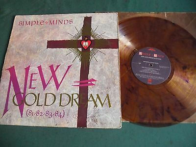 SIMPLE MINDS LP - NEW GOLD DREAM (81-82-83-84) in GOLD COLOURED FLECKED VINYL